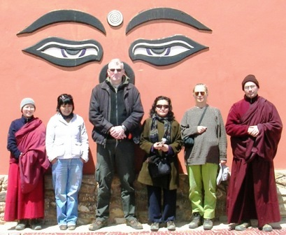 Shambhala -- Group at Gate -- WS