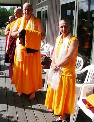 Palyul Retreat -- Ordination Day -- Monks and Nuns Waiting -- WS