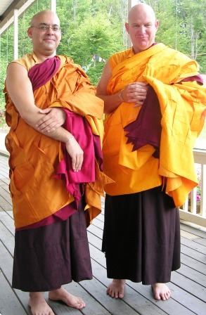 Palyul Retreat -- Ordination Day -- Lungtog and Kunga as Gelongs -- WS