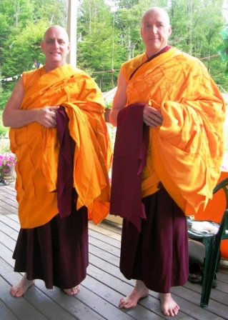 Palyul Retreat -- Ordination Day -- Gonpo and Jampel Portrait -- WS