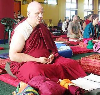 Palyul Retreat -- Ordination Day -- Ashby Meditating -- WS