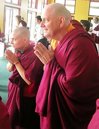 Palyul Retreat -- Ordination Day -- Gonpo and Norcho Bowing -- WS