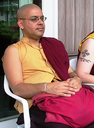 Palyul Retreat -- Ordination Day -- Lungtog Relaxed with Tattoo -- WS