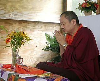 Palyul Retreat -- Khenchen Tsewang in Togyal Hut -- WS