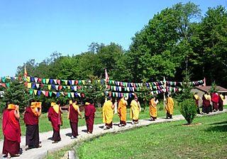 Palyul Retreat -- Lamas Carrying Texts -- WS