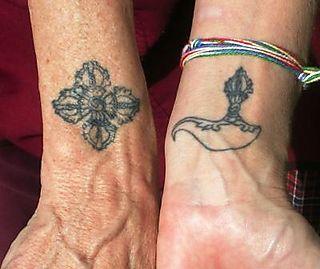 Palyul Retreat -- Dharma Tattoos -- Atara's Inner Wrist -- WS