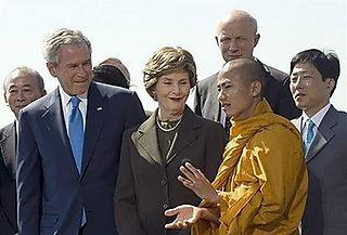 Bush and Buddhist Monk