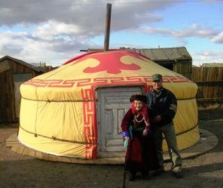 Underkhaan -- 10-08 Trip -- Ger -- Amaa and Batbaatar -- WS