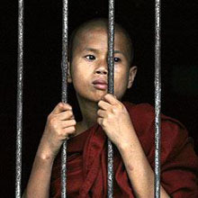 Jailed Burmese Monk