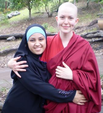 Lozang Wangmo and Muslim Sister