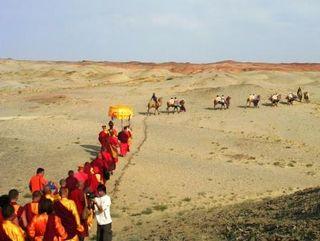 Dornogov -- Shambhala -- First Anniversary -- Lamas and Camels at Angles -- WS