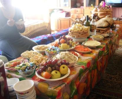 Mongolia -- Tsagaan Sar 2009 -- Table -- WS