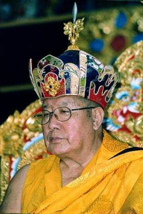 Penor Rinpoche with Crown