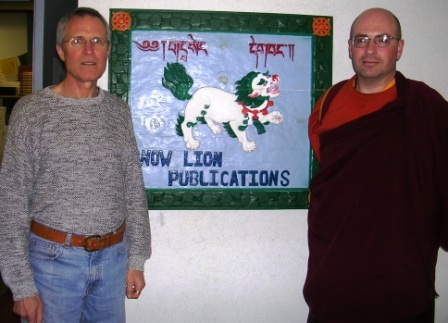 US Visit 2009 -- Snow Lion -- Jeff Cox and Konchog -- WS
