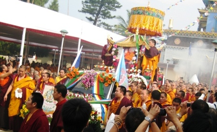 HH Penor Rinpoche Ceremony -- Procession with Lama Lobsang