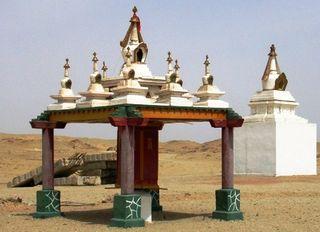 Mongolia -- SIT Gobi Trip -- New Stupa -- WS