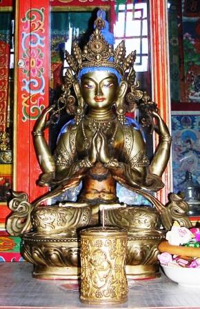 Mongolia -- SIT Gobi Trip -- Old Chenresig Statue -- WS