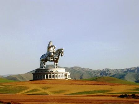 Mongolia -- Giant Chingghis Khan Statue -- WS