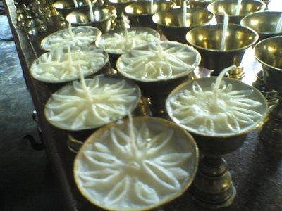 Namdroling Lotus Butter Lamps