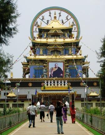 India 2009 -- Namdroling -- Zangdog Palri Temple Closeup -- WS