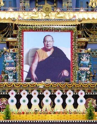 India 2009 -- Namdroling -- Zangdog Palri Temple -- HH Penor Rinpoche Altar -- WS