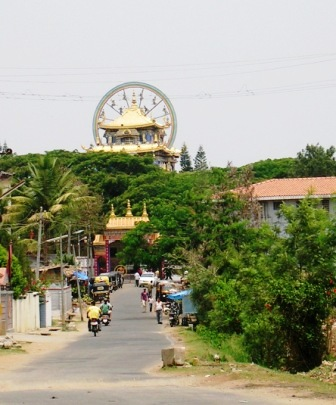 India 2009 -- Namdroling -- Zangdog Palri Temple in Distance -- WS