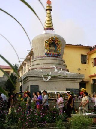 India 2009 -- Namdroling -- Migyur Dorje Stupa -- WS
