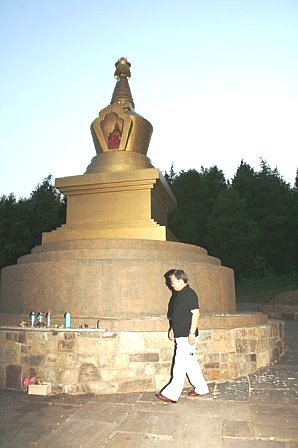 Sharvaa_around_long_life_stupa